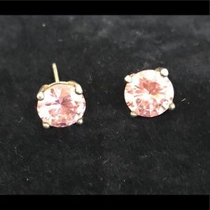 Jewelry - Large Sterling silver pink crystal earrings